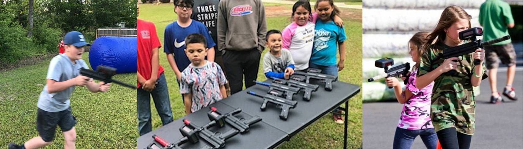 Laser tag party in eastern Mississippi and western Alabama