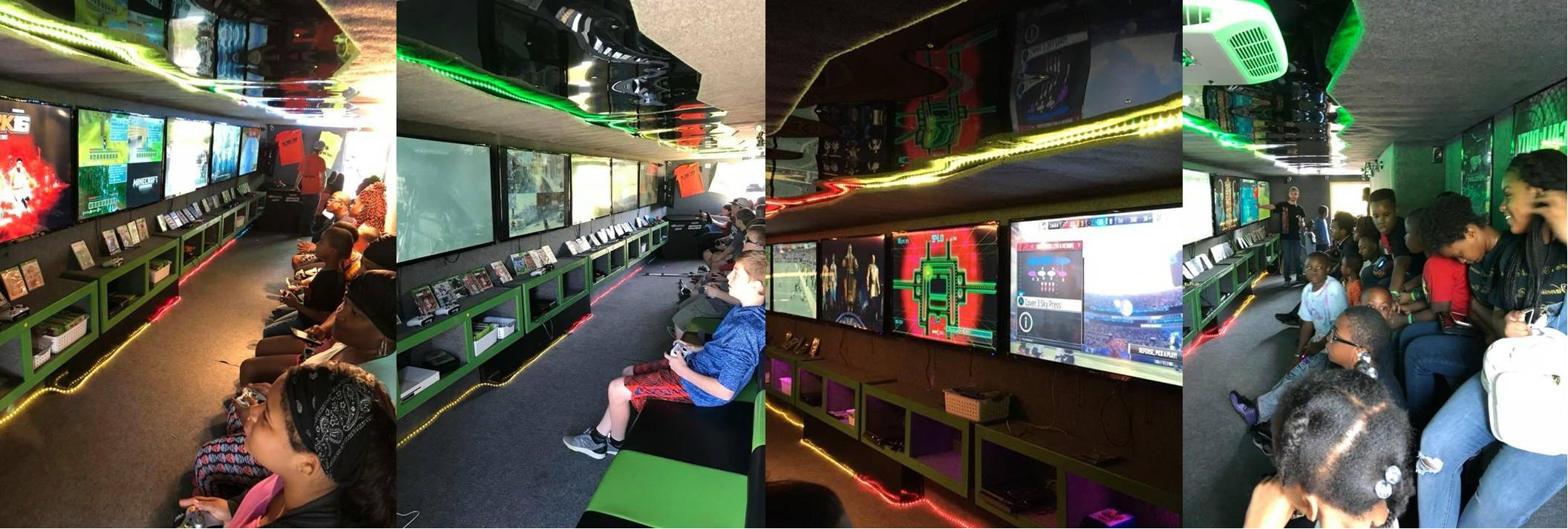 Video game truck birthday party in Mississippi and Alabama