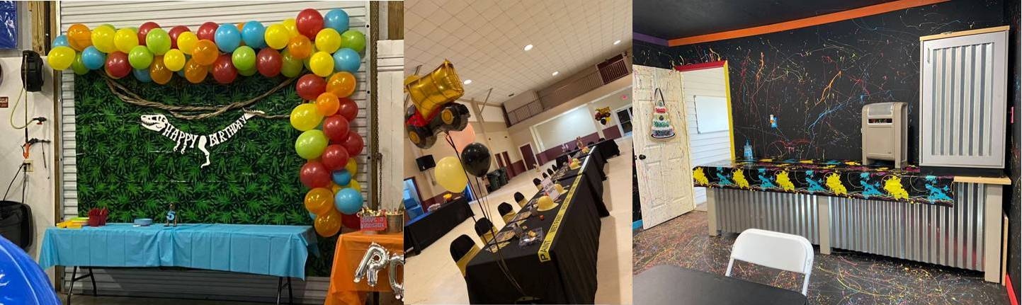 Birthday party room rental in Steens and Columbus Mississippi